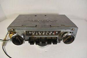 VINTAGE 1960s AMC RAMBLER CLASSIC AMBASSADOR AM MOTOROLA RADIO STEREO