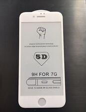 5D templado vidrio templado con una Completo Protector de pantalla para Apple iPhone 8-Blanco
