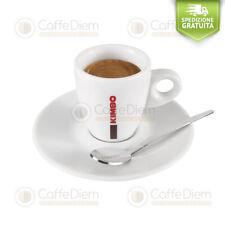 Kimbo Set Tazze da Caffè Espresso 6 Tazzine + 6 Piattini Ceramica Linea Bar
