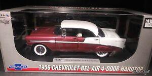 1/18 Precision Miniatures 1956 Chevrolet Bel Air 4 Door Hardtop Rose/White RARE