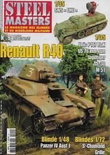 STEEL MASTERS N° 94 / RENAULT R40 - PANZER IV AUSF J - US 76 MM GUN