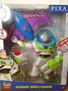 NEW Buzz Lightyear Talking Figure Ultimate Space Ranger Mattel Toy Story Disney