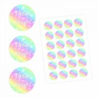 24 Vielen Dank! Aufkleber - Regenbogen - rund 4 cm Ø - Dankeaufkleber Sticker