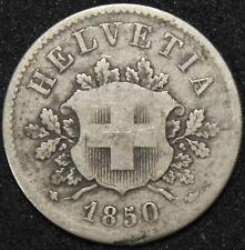 1850   Switzerland 10 Rappen   Billon   Coins   KM Coins