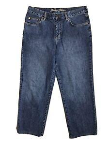 Tommy Bahama Indigo Palms Relaxed Fit Jeans Mens Sz 34X32 Blue Dark Wash Denim