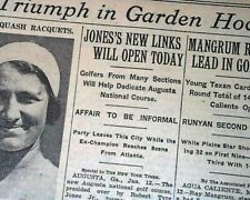 AUGUSTA NATIONAL GOLF CLUB Georgia Course Bobby Jones 1ST OPENING 1933 Newspaper