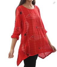 Lagenlook Cotton Tunic Top Dress Womens Shirt Dress Linen Tops Blouses Q18