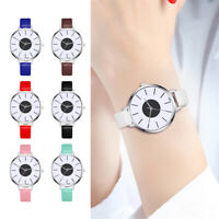 P/D: Damen Studenten Uhr Armbanduhr Schwarz Weiß Zifferblatt Analog Quarzuhr