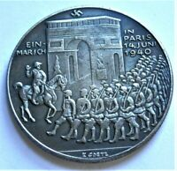WW2 GERMAN COMMEMORATIVE COLLECTORS REICHSMARK COIN '40 PARIS
