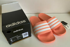 NEW! ADIDAS ADILETTE CLOUDFOAM PLUS STRIPES COMFORT SLIDES SLIPPERS 8 40.5 SALE