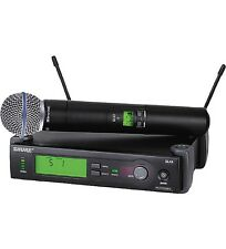 Shure SLX24/Beta58 Handheld Wireless Microphone System (G4: 470-494 MHz)