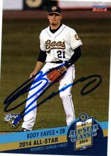 Kody Eaves Burlington Bees 2014 Midwest League All Star Game Signed Card