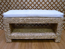 Stool Bathroom Floor Seating Bench Hall Bank Furniture Water Hyacinth 008