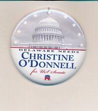 """2010 Christine O'Donnell U.S. Seante 2 1/4"""" Delaware DE campaign button"""