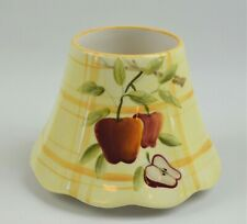 """Ceramic Jar Candle Topper Shade For Jar Candles Apple Print  3.75"""" Tall"""