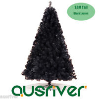 6FT 1.8M Black Christmas Tree Xmas Tree Plush PVC Leaves 702 Tips Jupiter BLK180