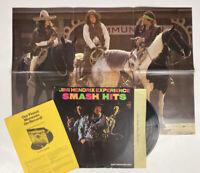 Jimi Hendrix Experience Smash Hits LP 1979 MS 5158 Reprise w/ Poster! G+ VG