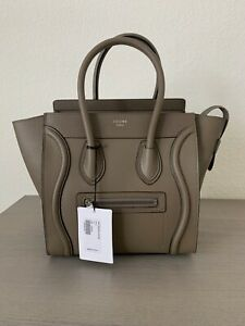 CELINE MICRO LUGGAGE TOTE TAN COLOR