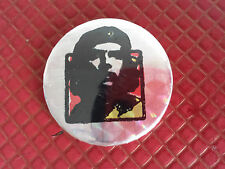 Original Vintage Punk Che Guevara Medium Pin Badge reflective foil