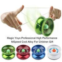 Aluminum Alloy YOYO Ball Bearing String Trick Toy Kids Children FZ
