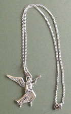 Angel pewter pendant, Archangel Gabriel, hand made with surgical steel chain