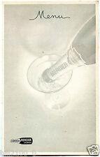 menu antique . champagne Mercier . Epernay