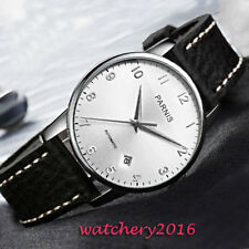 a24c8e981 38MM PARNIS White Dial Sapphire Glass MIYOTA Automatic Movement men's Watch