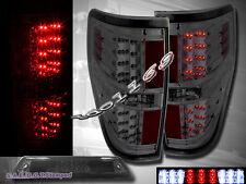 2009-2014 Ford F150 XL XLT STX FX4 Pickup Tail Lights Smoke + 3rd Brake Light