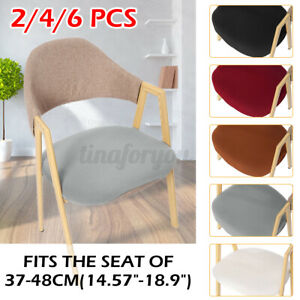 New 2/4/6PCS Stretch Removable Washable Dining Room Chair Seat Cover   NEW