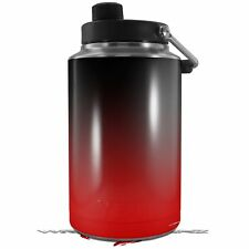 Skin Wrap for Yeti 1 Gallon Jug Smooth Fades Red Black