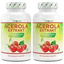 2x Acerola Extrakt = 480 Kapseln - Natürliches Vitamin C