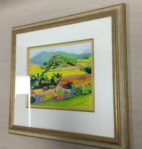 """Original Painting by Artist Mary Stevenson """"Dauphin from St. Maime"""" France"""
