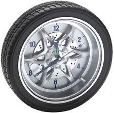 Tire Rim Gear Wall Clock Rally Wheel Automotive Auto Racing Garage Decor Mancave