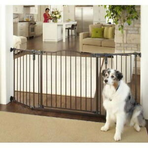 North States Deluxe Wall Angle Mount Matte Bronze Dog Baby Pet Child Gate NS4944