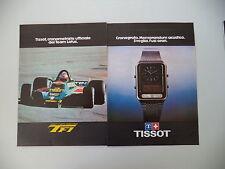 advertising Pubblicità 1979 TISSOT F1 SVEGLIA OROLOGIO CRONOGRAFO