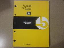 John Deere 310 320 pressure washer service & repair manual