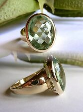 SCHMUCK-STCK Ring 375 Gold grün FLUORITH Sogni D'oro Facetten 63 20
