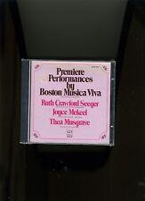 BOSTON MUSICA VIVA. SEEGER MEKEEL, MUSGRAVE. DELOS 1987. NEW SEALED. RARE