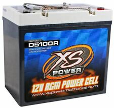 XS Power D5100R 3100 Amp AGM Power Cell Car Audio Battery + Terminal Hardware