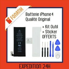 BATTERIE IPHONE 4 INTERNE NEUVE 0 CYCLE 1420 mAh + KIT OUTILS + STICKER OFFERTS!