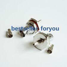 1Pcs BNC female bulkhead crimp window RG174 RG316 LMR100 Cable RF connector