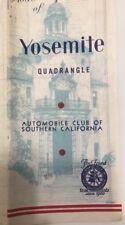 Vtg C20349 AAA Yosemite Quadrangle Map 1930s