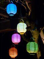 5-STÜCK LED Party Lampion ø 15cm in 5-REGENBOGEN-FARBEN                   101549