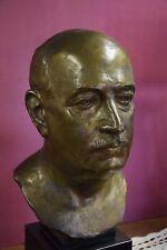 Auguste MAILLARD, buste en bronze de ZEVAES ,homme politique ,XXème(cire perdue)