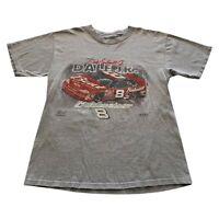 VTG 90s Dale Earnhardt Jr Gray Chase NASCAR Signature Racing T Shirt Men Medium