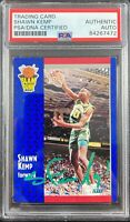 Shawn Kemp auto signed card Fleer #231 Seattle Supersonics PSA Encapsulated