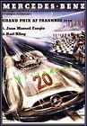 Mercedes Benz Grand Prix Races Vintage Poster Print German Car Advertisement