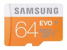 Samsung EVO 64GB microSDXC micro SD UHS microSD Galaxy S6 S7 S8 Class 10 Card