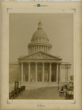 France, Paris, Le Panthéon Vintage albumen print, France Tirage albuminé  21