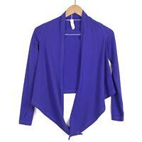 Ivivva Girls Purple Button Snap Long Sleeve Wrap Top Size 7 Yoga Tie Athlesiure